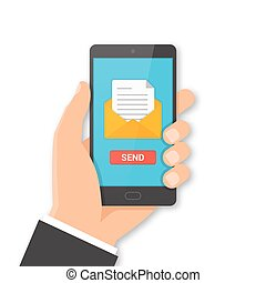 Smartphone email sending concept