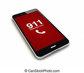 smartphone emergency call render