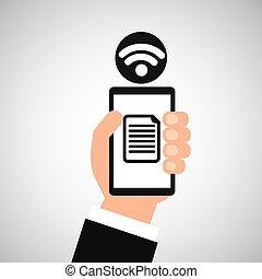 smartphone file internet wifi icon