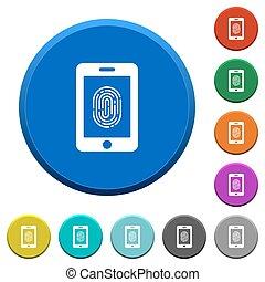 Smartphone fingerprint identification beveled buttons -...