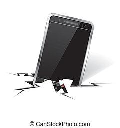 smartphone, fissure