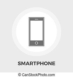 Smartphone flat icon