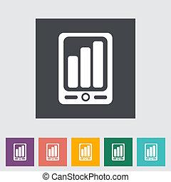 Smartphone flat icon.