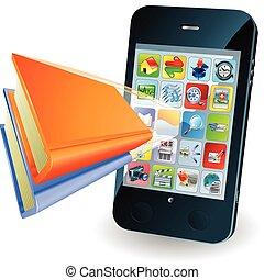 smartphone, fogalom, könyv