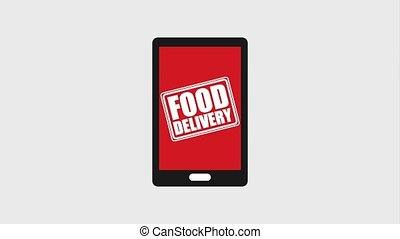food delivery online - smartphone food delivery online order...