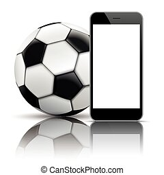Smartphone Football Mirror Mockup
