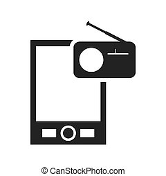 Smartphone gadget technology icon. Vector graphic