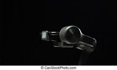 smartphone, gimbal, ekran, action., zielony, stabilizator,...