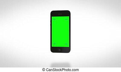 smartphone, giri, on., bianco, bg