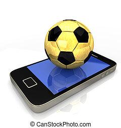 Smartphone Golden Football