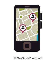 smartphone, gps, app