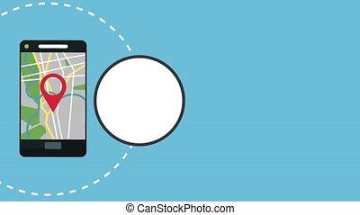 Smartphone GPS application HD animation
