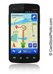 smartphone, gps, navigation