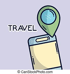 smartphone gps navigation location pin tourist vacation travel