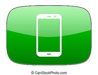 smartphone green icon phone sign