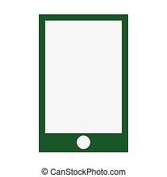 smartphone green screen flat icon