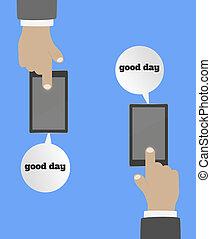 smartphone, hand