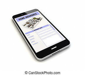 smartphone home insurance render