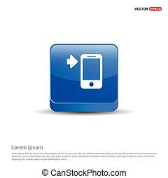 smartphone icon - 3d Blue Button