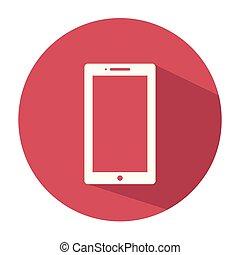 Smartphone Icon Design, Mobile Flat Icon