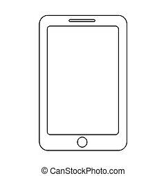 smartphone icon illustration design