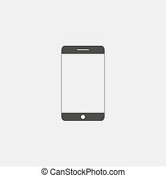 Smartphone icon in a flat design in black color. Vector illustration eps10