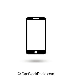 Smartphone icon in flat style. Mobile phone symbol for your web site design, logo, app
