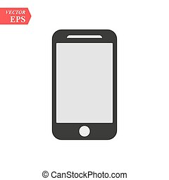 Smartphone icon in iphone style. Cellphone pictogram in trendy flat style isolated on white background. Telephone symbol for your web site design, logo, app, UI. Vector illustration, EPS 10.