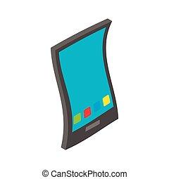 Smartphone icon, isometric 3d style