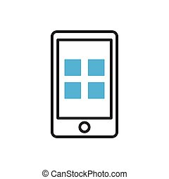 Smartphone icon. Mobile applications