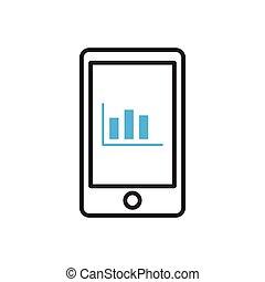 Smartphone icon. Mobile statistics