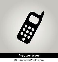 Smartphone icon on grey background