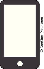 smartphone icon on white background.