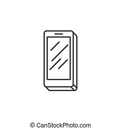 Smartphone Related Vector Line Icon.