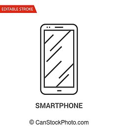 Smartphone Icon. Thin Line Vector Illustration