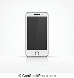 Smartphone icon. Vector illustration. Realistic mock up.
