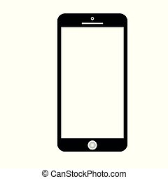 Smartphone icon vector, mobile Illustration. Cellphone frame with blank display isolated templates, phone different angles views. Vector mobile device concept. Vector illustration EPS10