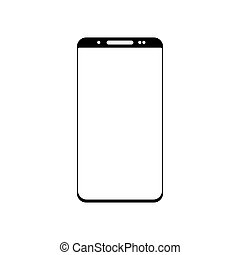 Smartphone icon vector, mobile Illustration. Isolated on white background
