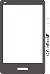 Smartphone icon vector simple