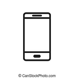 Smartphone icon vector. Simple smartphone sign in modern design style for web site and mobile app. EPS10