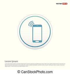 smartphone icon - white circle button