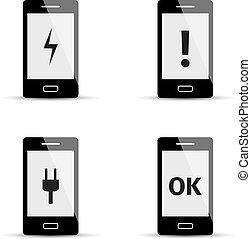 Smartphone icons set