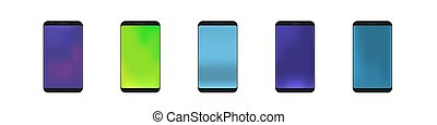 Smartphone icons vector
