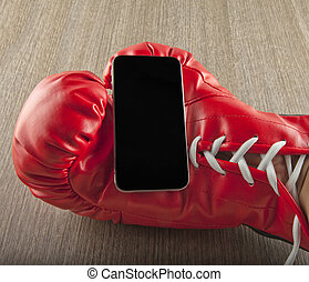 Smartphone in glove