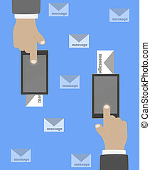 Smartphone in hand mail