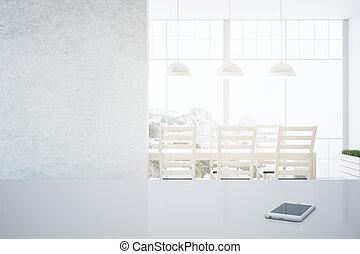 Smartphone in kitchen