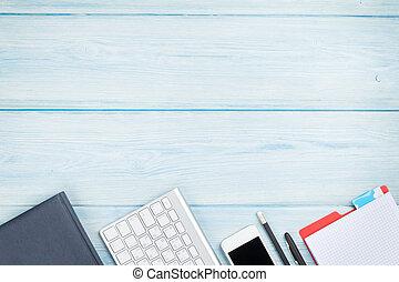 smartphone, informatique, fournitures, bureau bureau