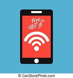 smartphone internet free wifi icon