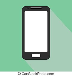 smartphone iphone icon in the style flat design on the blue background. stock vector illustration eps 10