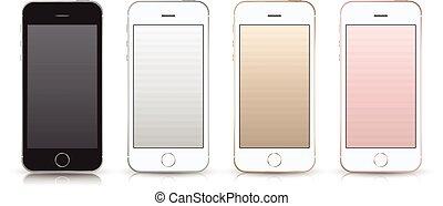 smartphone iPhone SE style mockup. - Realistic smartphone...